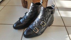 Stiefeletten aus Leder Damen schwarz 40