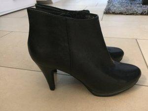 Belmondo Zipper Booties black leather