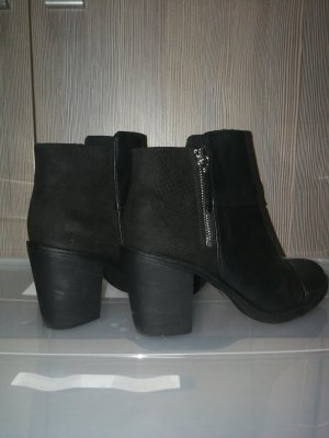 H&M Ankle Boots black-silver-colored