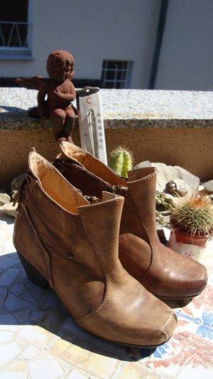 Stiefeletten Boots Country Hippie Bronze Cognac