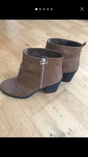 Stiefeletten Boots High Heel Braun Gr. 41