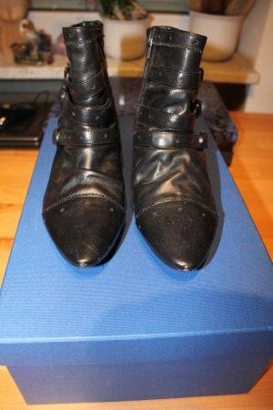 Stiefeletten / Boots, Leder, schwarz, Größe 39, nur einmal getragen!