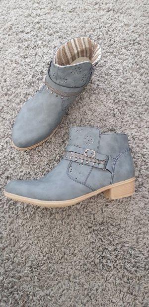 Western Booties grey-pale blue