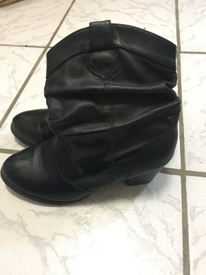 Stiefeletten Boots schwarz Gr 40