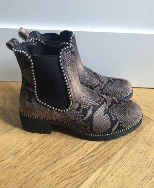Stiefeletten/Boots von Boohoo mit Schlangen Print
