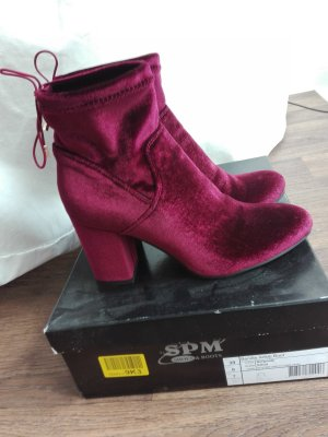 Slouch Booties bordeaux