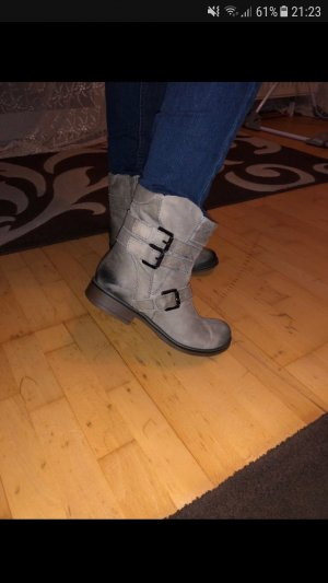 5th Avenue Booties grey leather