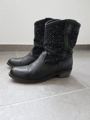 Stiefeletten/ Cowboy Boots mit Pailletten von Bullboxer Gr. 39