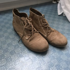 Lace-up Booties beige-brown