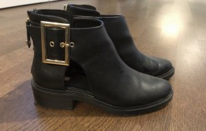 Stradivarius Stivaletto cut out nero-oro