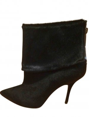 Christian Dior Stivaletto con zip nero Pelliccia