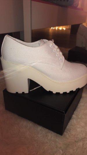 H&M Platform Booties natural white-white