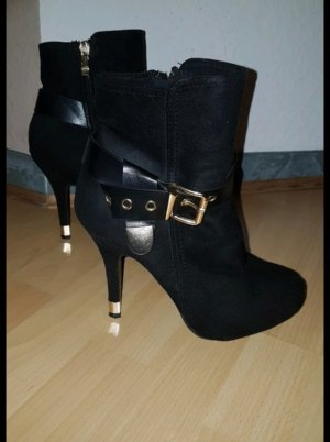 no name High Heels black-gold-colored