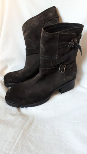 Alberto Fermani Slouch Booties dark brown