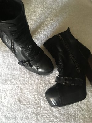 Topshop Platform Booties black-anthracite