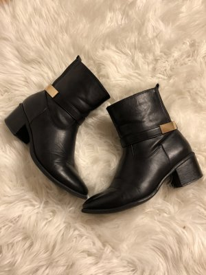 Anna Field Booties black-gold-colored