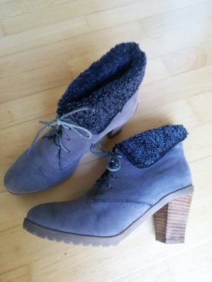 C&A Winter Booties grey-light brown imitation leather