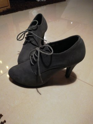 Madonna Lace-up Booties grey