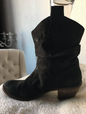 Western Booties black leather