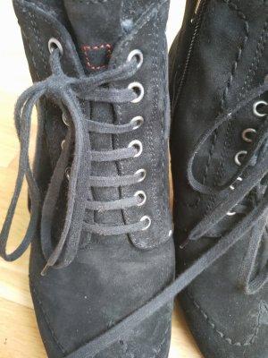Högl Bottines à plateforme noir cuir