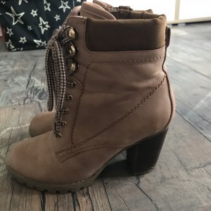 Anna Field Lace-up Booties dusky pink