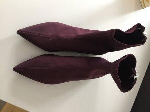 Stiefeletten in dunklem rot, Gr. 38, ungetragen & neu