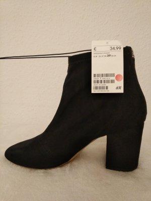 Stiefeletten in schwarz von H&M Gr. 39 mit Reißverschluss NEU, ungetragen mit Etikett!