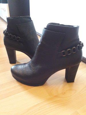 Stiefeletten Leder - schwarz
