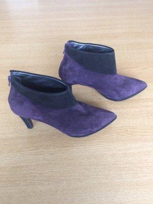 Nina Fiarucci Platform Booties black-dark violet