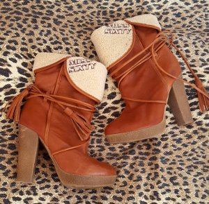 Miss Sixty Booties cognac-coloured-natural white