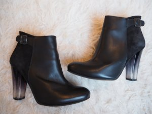 Zalando Collection Zipper Booties black-white