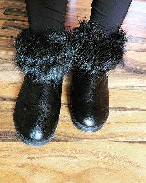 Made in Italy Fur Boots black