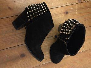 Zara Bottines à fermeture éclair noir