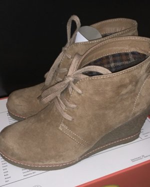 Graceland Wedge Booties grey brown