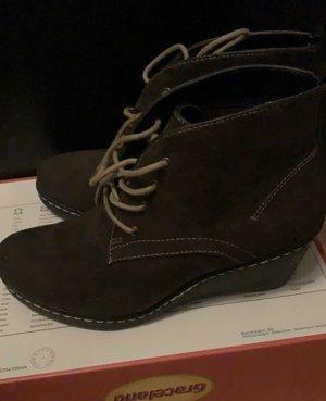 Graceland Wedge Booties black brown