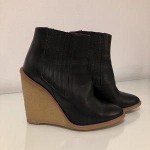 Zara Wedge Booties black-camel