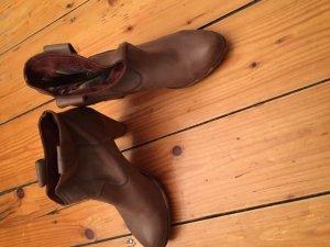 Felmini Platform Booties brown leather