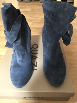 Stiefeletten mit Schleife, dunkelblau