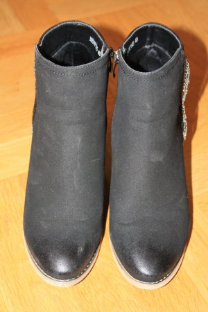 Western Booties black-silver-colored