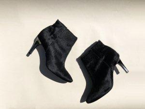 Zara Laarsjes zwart Kunstbont