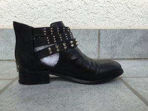 Stiefeletten Nieten Ankle Boots Festival Coachella Look Model Rebel Style schwarz Größe 37