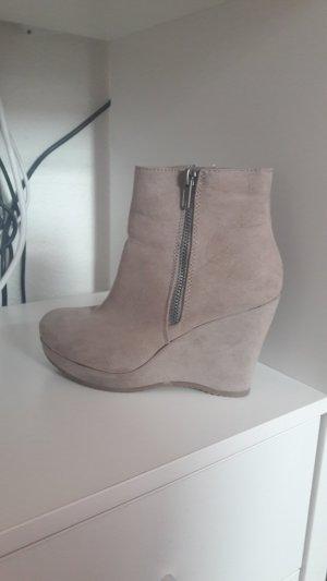 Stiefeletten Plateauschuhe von Graceland Schuhe beige Größe 36