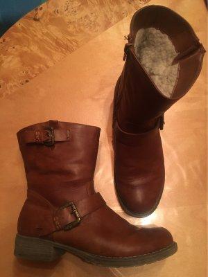 Short Boots cognac-coloured