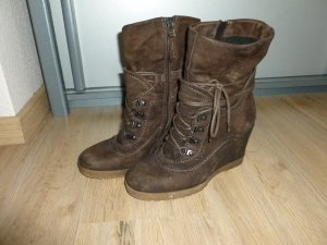 Stiefeletten Schuhe empodium braun Leder