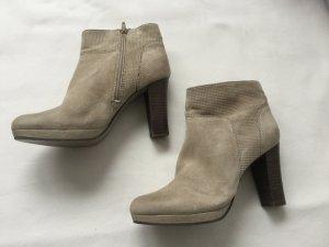 Stiefeletten Schuhe von SPM in Wildleder beige Gr. 39 Plateau NEU Damen