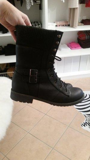 Stiefeletten schwarz Boots Gr. 37