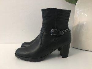 Stiefeletten schwarz mit Kette
