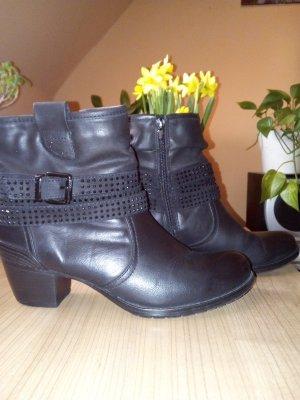 Graceland Zipper Booties black imitation leather