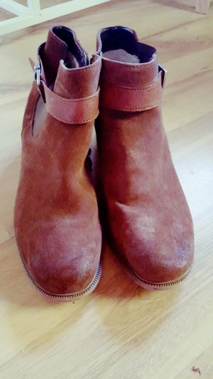 ara Short Boots brown-cognac-coloured leather