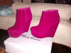 Belle Women Booties pink